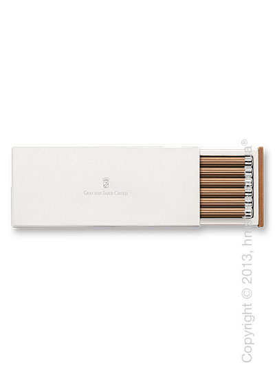 Набор карандашей Graf von Faber-Castell 6 Pencils NO. III, with Silver Cap