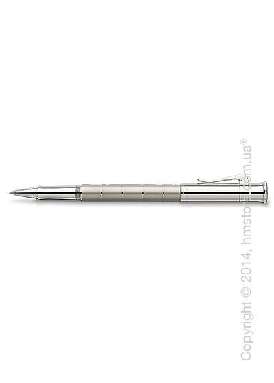 Ручка роллер Graf von Faber-Castell серия Classic Anello, коллекция Titanium