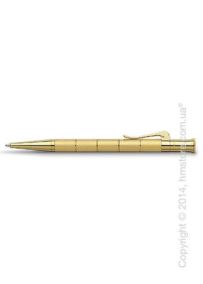 Ручка шариковая Graf von Faber-Castell серия Classic Anello, коллекция Gold