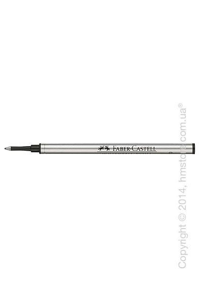 Сменный стержень Faber-Castell для ручки роллер, толщина F, Черного цвета
