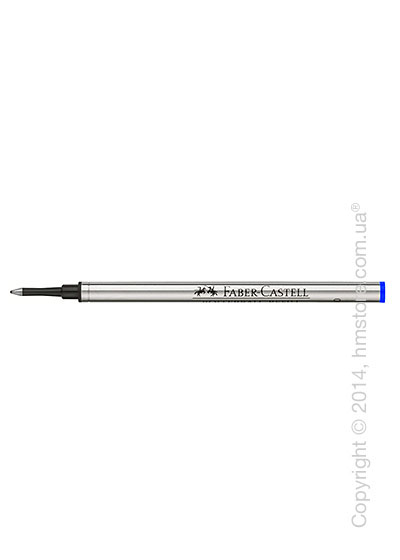 Сменный стержень Faber-Castell для ручки роллер, толщина F, Синего цвета