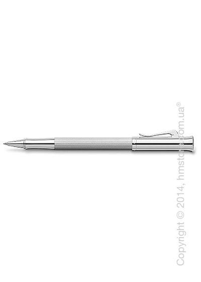 Ручка роллер Graf von Faber-Castell серия Guilloche, коллекция Rhodium, Guilloche Engraving