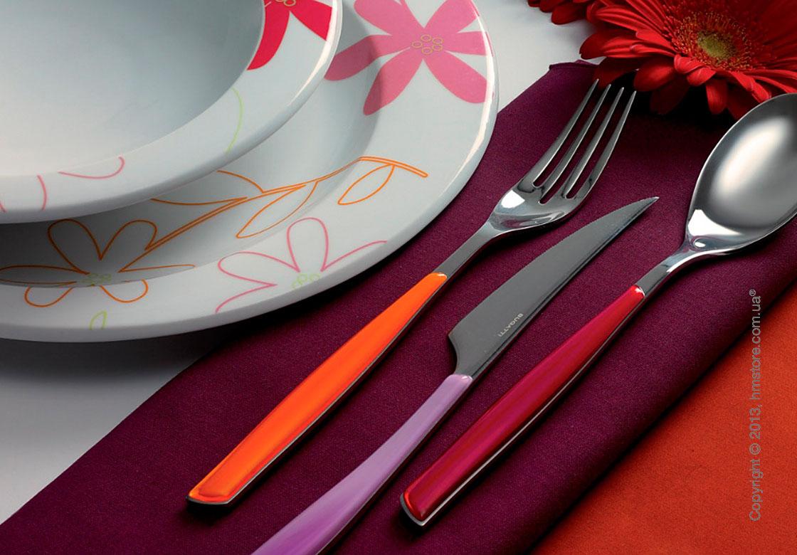 Набор столовых приборов Bugatti Glamour на 6 персон, 24 предмета, Orange