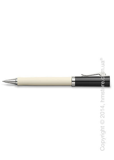Ручка роллер Graf von Faber-Castell серия Intuition, коллекция Ribbed Ivory, Finely Fluted