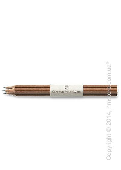 Комплект простых карандашей Graf von Faber-Castell 3 Pencils NO. III, Cedar Wood Brown