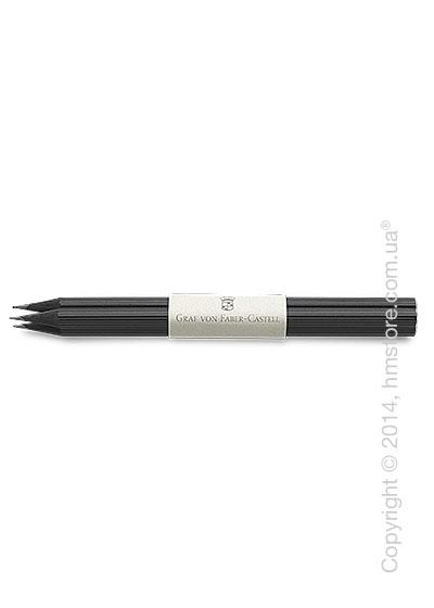 Комплект простых карандашей Graf von Faber-Castell 3 Pencils NO. III, Cedar Wood Black