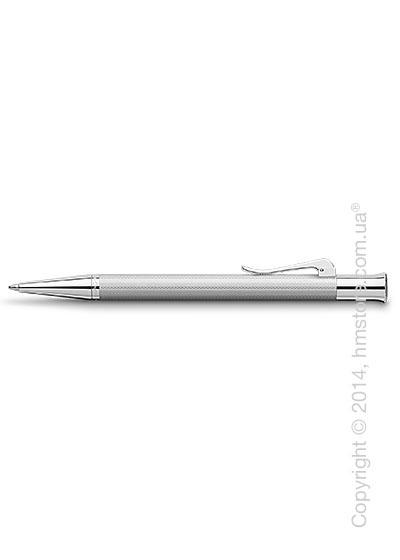 Ручка шариковая Graf von Faber-Castell серия Guilloche, коллекция Rhodium, Guilloche Engraving