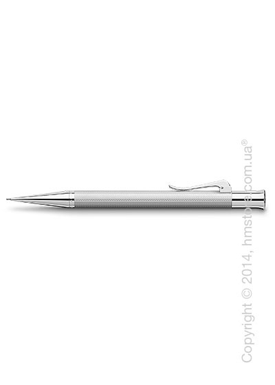 Карандаш механический Graf von Faber-Castell серия Guilloche, коллекция Rhodium, Guilloche Engraving