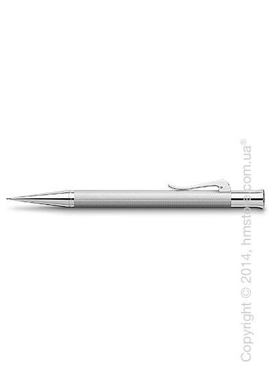Карандаш механический Graf von Faber-Castell серия Guilloche, коллекция Rhodium, Guilloche Engraving