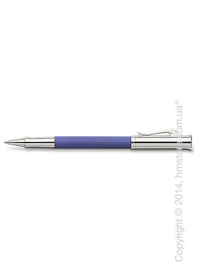 Ручка роллер Graf von Faber-Castell серия Guilloche, коллекция Indigo, Guilloche Engraving