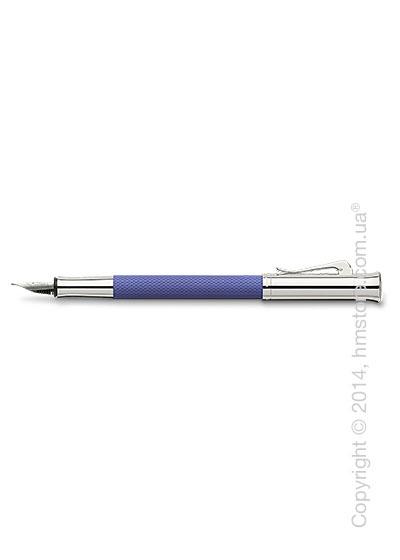Ручка перьевая Graf von Faber-Castell серия Guilloche, коллекция Indigo, Guilloche Engraving