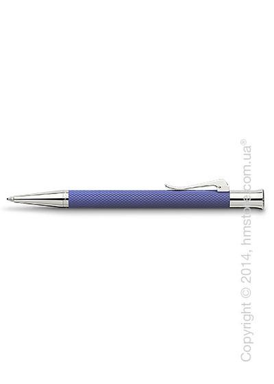 Ручка шариковая Graf von Faber-Castell серия Guilloche, коллекция Indigo, Guilloche Engraving