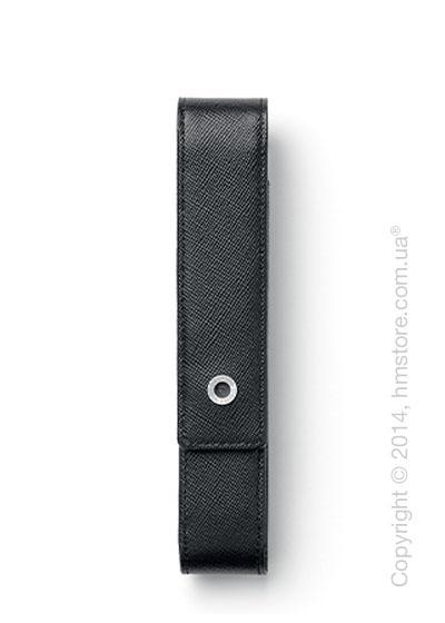Кожаный пенал для ручки Graf von Faber-Castell Standard Case for 1 Pen Epsom, Black Saffiano