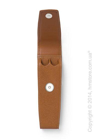 Кожаный пенал для ручек Graf von Faber-Castell Standard Case for 2 Pens, Brown, Grained Leather