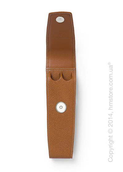 Кожаный пенал для ручек Graf von Faber-Castell Case With Magnetic Catch For 2 Pen Epsom, Cognac Grained Leather