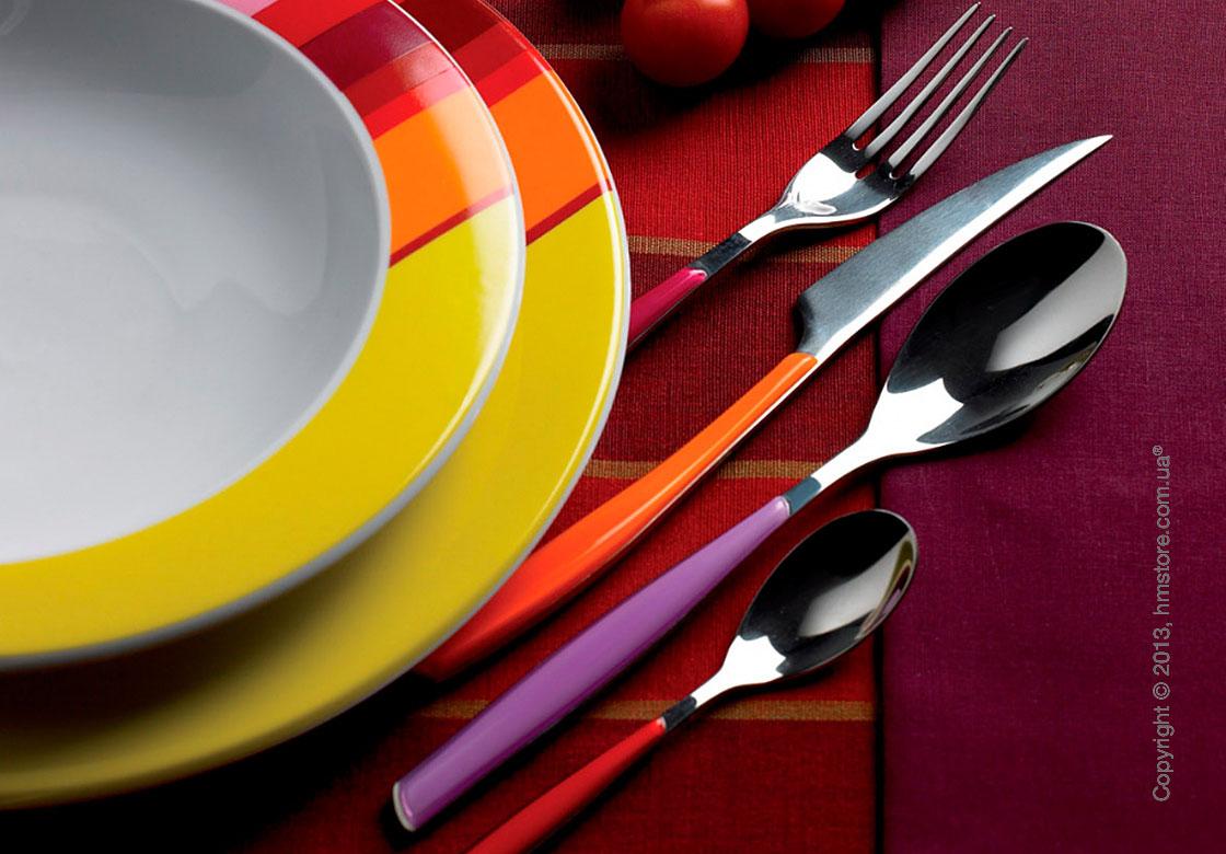 Набор столовых приборов Bugatti Glamour на 6 персон, 24 предмета, Red