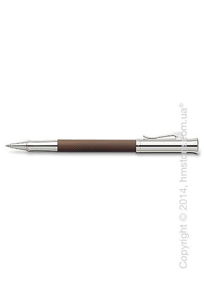 Ручка роллер Graf von Faber-Castell серия Guilloche, коллекция Cognac, Guilloche Engraving