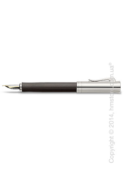 Ручка перьевая Graf von Faber-Castell серия Intuition Platino Wood, коллекция Grenadilla, Finely Fluted