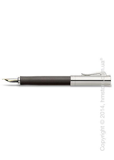 Ручка перьевая Graf von Faber-Castell серия Intuition Platino Wood, коллекция Grenadilla, Finely Fluted