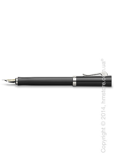 Ручка перьевая Graf von Faber-Castell серия Intuition, коллекция Ribbed Black, Finely Fluted