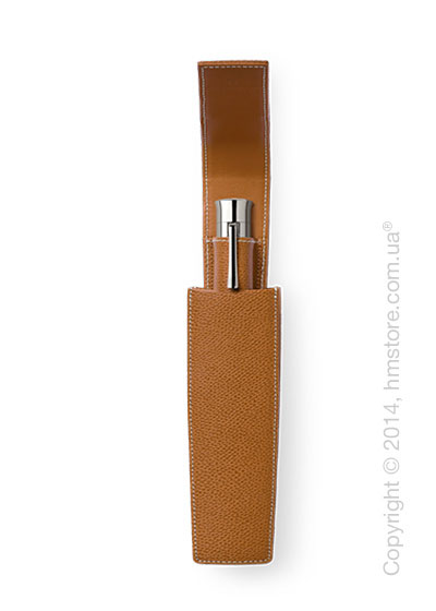 Кожаный пенал для ручки Graf von Faber-Castell Sliding Case for 1 Pen of The Year, Cognac Grained Leather