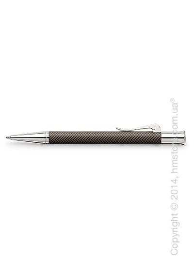 Ручка шариковая Graf von Faber-Castell серия Guilloche, коллекция Ciselé, Brown