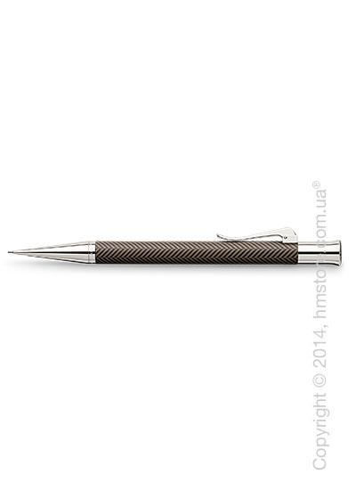 Карандаш механический Graf von Faber-Castell серия Guilloche, коллекция Ciselé, Brown