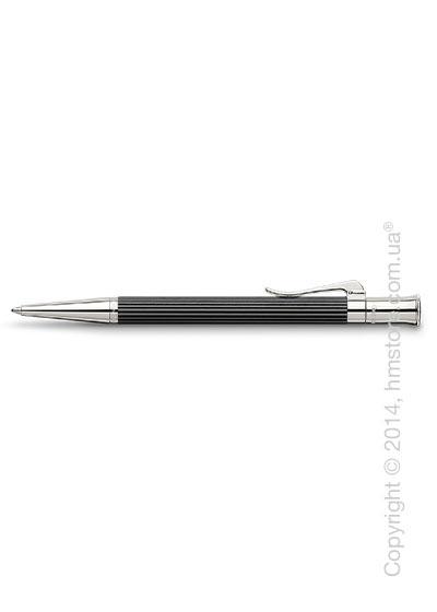 Ручка шариковая Graf von Faber-Castell серия Classic, коллекция Ebony, Finely Fluted
