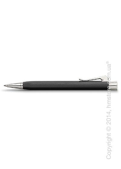 Ручка шариковая Graf von Faber-Castell серия Intuition Platino Wood, коллекция Ebony, Finely Fluted