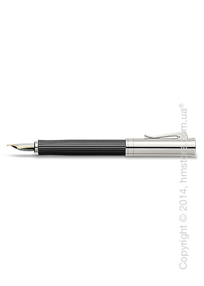 Ручка перьевая Graf von Faber-Castell серия Intuition Platino Wood, коллекция Ebony, Finely Fluted