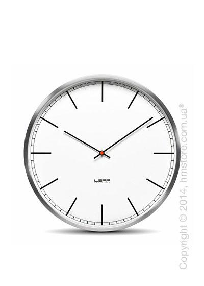 Часы настенные LEFF Amsterdam wall clock one35 white index stainless steel