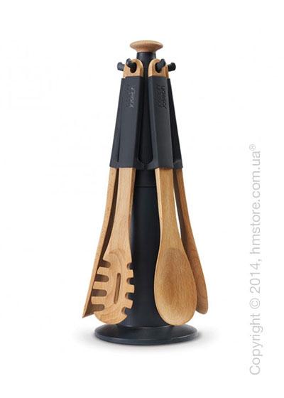 Набор кухонных приборов на подставке Joseph Joseph Elevate Wood Carousel, Grey