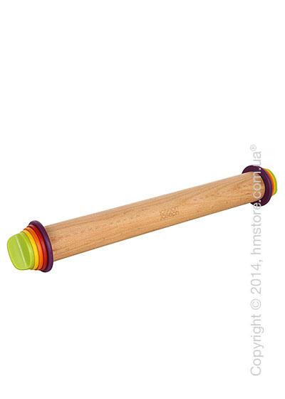 Скалка с кольцами для регулировки Joseph Joseph Adjustable Rolling Pin, Multi-Сolour