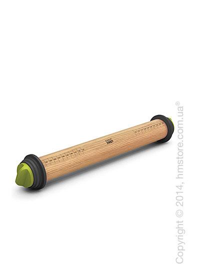 Скалка с кольцами для регулировки Joseph Joseph Adjustable Rolling Pin, Grey and Green