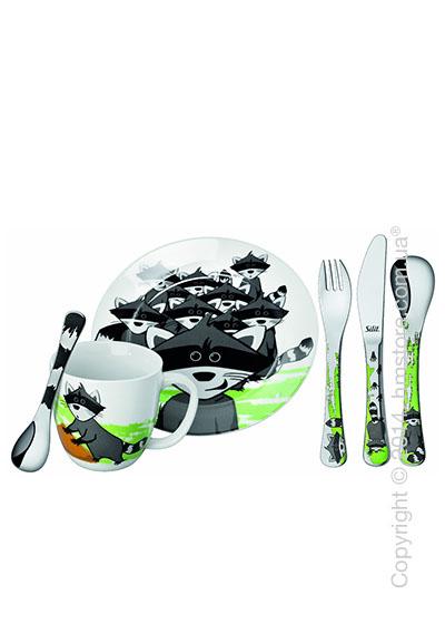 Набор детской посуды Silit Waschbar, 6 предметов