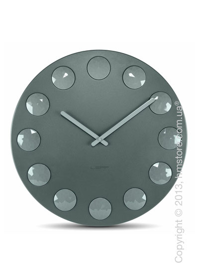 Часы настенные LEFF Amsterdam wall clock facet55 grey