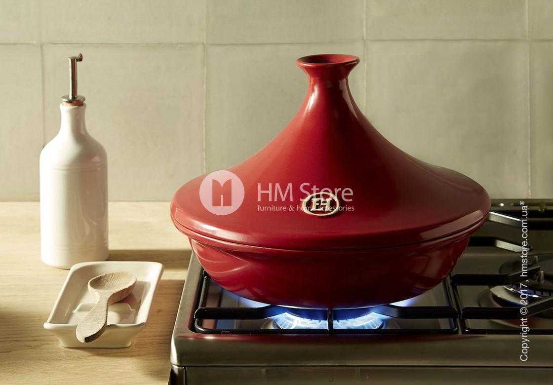 Тажин керамический Emile Henry Cookware Flame 3,5 л, Brick