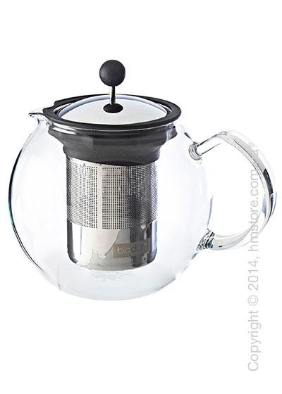 Чайник заварочный с прессом Bodum Assam 1 л, Black