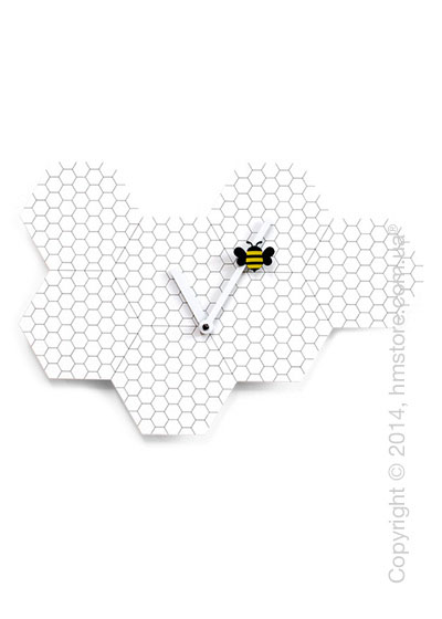 Часы настенные Progetti Time2bee Wall Clock, White