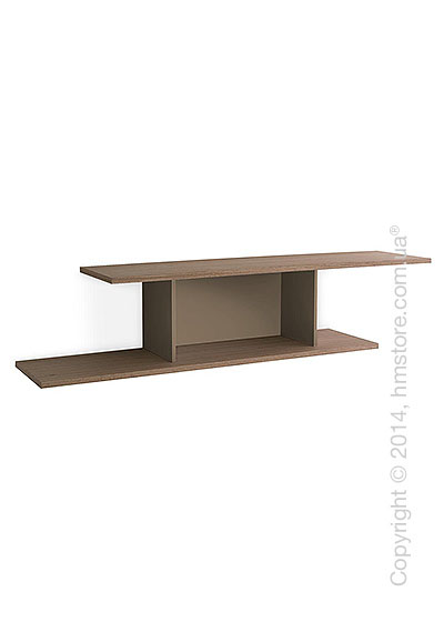 Полка Calligaris Equal, Metal matt nougat and Finish natural