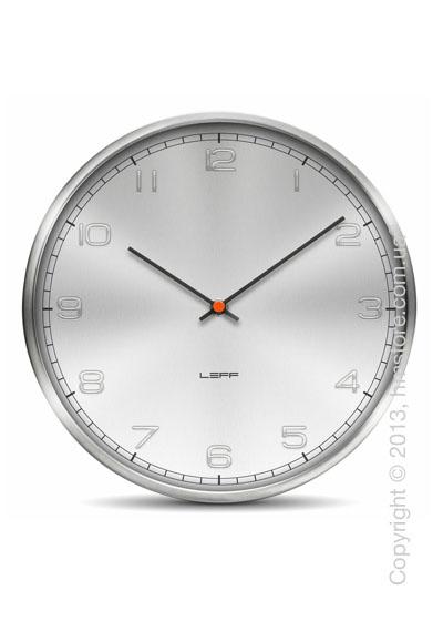Часы настенные LEFF Amsterdam wall clock one25 alu stainless steel embossed arabic