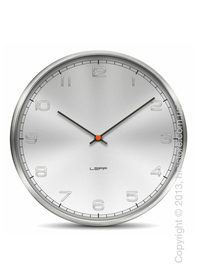 Часы настенные LEFF Amsterdam wall clock one25 alu stainless steel embossed arabic
