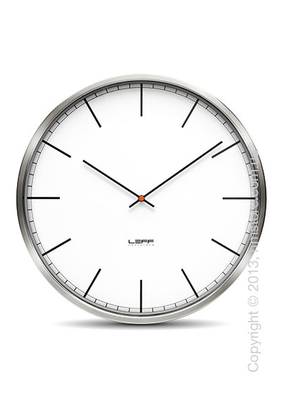 Часы настенные LEFF Amsterdam wall clock one25 white index stainless steel