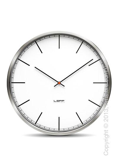 Часы настенные LEFF Amsterdam wall clock one25 white index stainless steel