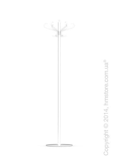 Вешалка Calligaris Medusa, Coat stand, Metal glossy optic white and Transparent plastics transparent