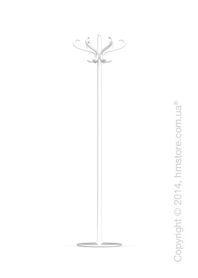 Вешалка Calligaris Medusa, Coat stand, Metal glossy optic white and Transparent plastics transparent glossy optic white