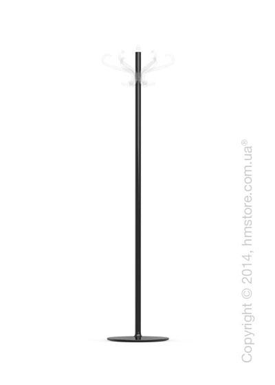 Вешалка Calligaris Medusa, Coat stand, Metal glossy black and Transparent plastics transparent