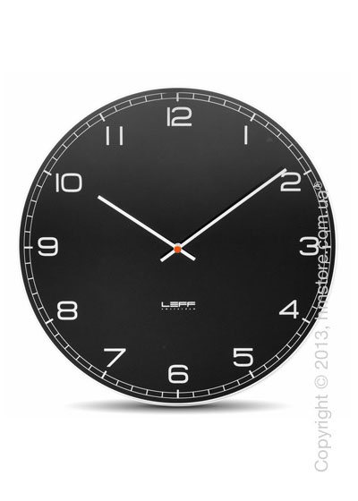Часы настенные LEFF Amsterdam wall clock one45 black glass arabic