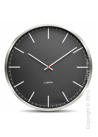 Часы настенные LEFF Amsterdam wall clock one45 black index stainless steel