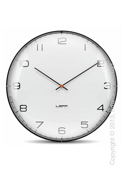 Часы настенные LEFF Amsterdam wall clock one45 white convex glass arabic